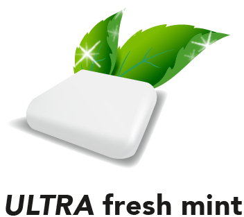 Nicorette Ultra Fresh Mint Flavoured gum logo