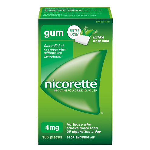 Nicorette Ultra Fresh Mint Flavoured Gum 4 mg Packaging