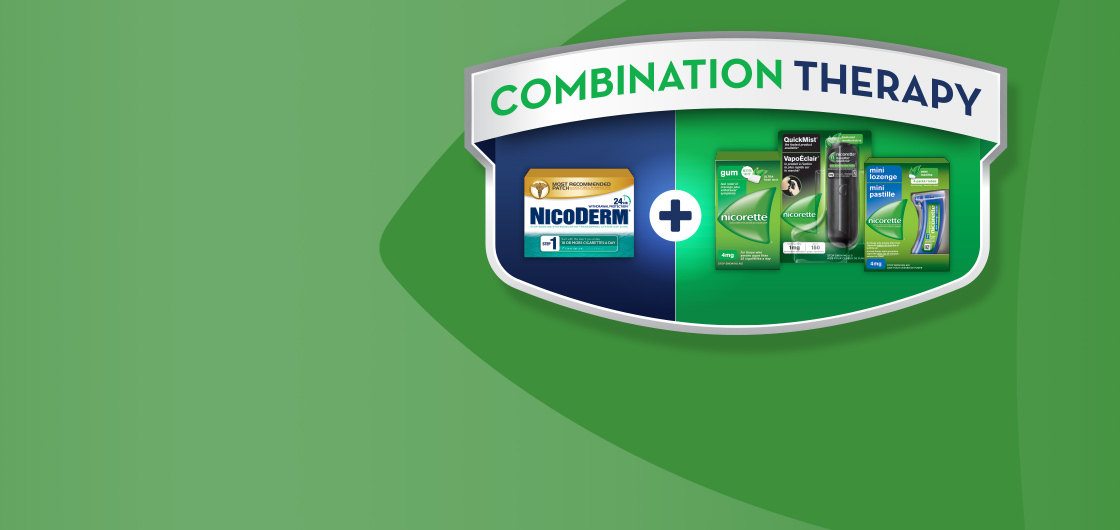 Nicoderm and Nicorette Combination Therapy
